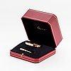 "A cartier ""love"" bracelet in 18k rose gold set with four round brilliant-cut diamonds."
