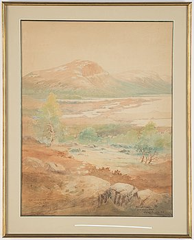 Olof Walfrid Nilsson, two watercolours, signed and dated -28 and -30.