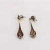 Collier and earrings, sterling silver, kultasepät sten & laine. finland.