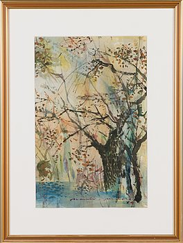 Nandor Mikola, water colour, signed and dated -69.