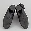 Chanel, a pair of black, quilted leather boots, size 37½.