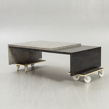 A stone veneered coffee table later part of the 20th century.