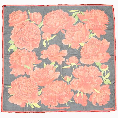 Hermès, chiffon silk scarf 'les pivoines'.