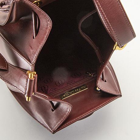 Cartier, must de cartier line burgundy, väska, 1980-tal.