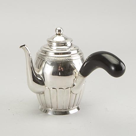 A swedish 19th century sivler coffe pot mark of jm corth nyköping 1846.