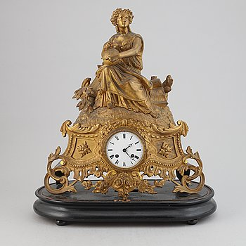 A French rococo revival mantle clock from PH Mourey, ca 1900.