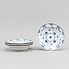 17 parts of the porcelain dining service 'musselmalet' from royal copenhagen.