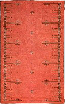 Aappo Härkönen, A Finnish 50s/60s flat weave carpet for Mattokutomo, circa 242x149 cm.
