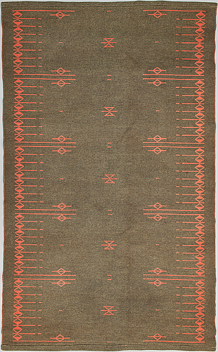Aappo härkönen, karvalankamatto, mattokutomo, suomi, 1950/60-luku, noin 242x149 cm.