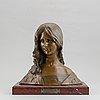 Léon noël delagrange, a bronze sculpture, signed.