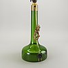Table lamp, glass, holmegaard, denmark, second half of the 20th century.