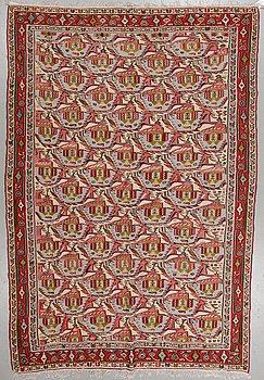 A carpet, an old kilim, probably Senneh, ca 292,5 x 193-202 cm.