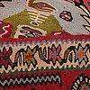 Matta, old kelim, senneh sannolikt, ca 292,5 x 193-202 cm.