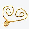 Collier 18k gold with rubies and nrilliant-cut diamonds, length approx 45 cm, centre part approx 5 x 4 cm.