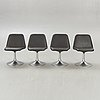 """Börje johansson, stolar, 4 st """"vinga"""" johanson design, markaryd, 1900-talets andra hälft."""