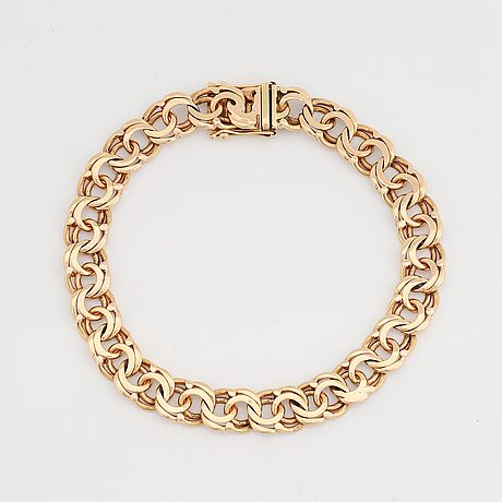 Armband, 18k guld,  bismarcklänk.
