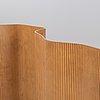 A birch folding screen or room divider, model 'sebastian', martela, finland.