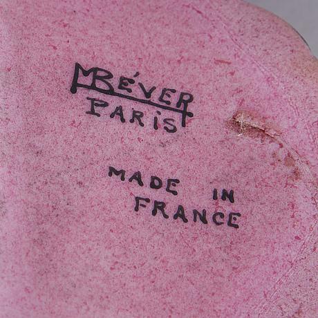 Marcel bever, an art déco ceramic table lamp, paris.