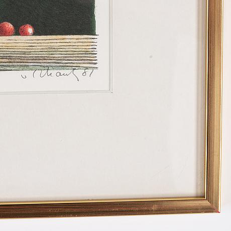 Philip von schantz, lithograph in colours, 1981, signed 132/140.