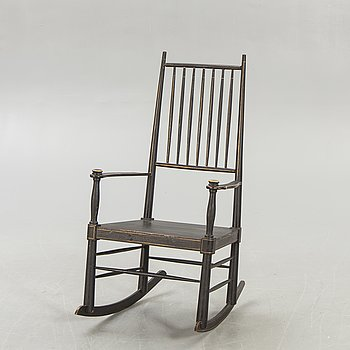 A Swedish rocking chair around 1900.