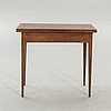 A late gustavian mahogany game table first half of the 1800s.