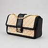 Chanel, a two tone quilted leather 'flap bag', 2014-15.
