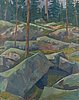 Tuomo blomqvist, oil on canvas, signed and dated -80.