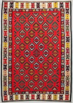 A rug, kilim, ca 203 x 283 cm.