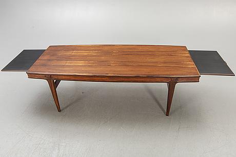 A johannes andersen jacaranda coffee table model f102, 1960s.