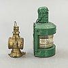 An early 1900s lantern and railway lantern.