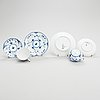 A set of 28 pieces royal copenhagen blue fluted half-lace porcelain.