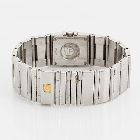 Omega, constellation, quadra, wristwatch, 19 x 24 mm.