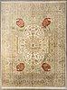 An oriental silk/cotton carpet ca 300 x 246 cm.