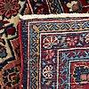A semiantique kashan carpet ca 206 x 130 cm.