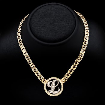 Necklace 18K gold with brilliant-cut diamonds approx 1,5 ct in total, 56,6 g, ca 42 cm.