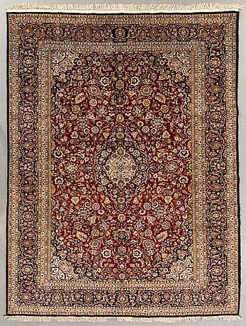 A semaintique silk kashan ca 328 x 225 cm.