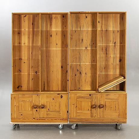 Sven larsson's furniture shop, 2 pine bookshelves 1970s.