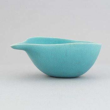 Paul Hoff, a stoneware bowl for Gustavsbergs studio, 1989, ed 50/150.