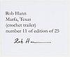 Rob hann, archival inkjet print, signerad 11/25 a tergo.