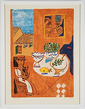 Madeleine Pyk, lithograph in colours, signed 3514/5000.