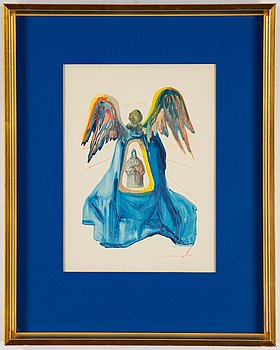 Salvador Dalí, woodcut, signed and numbured, 100/150.