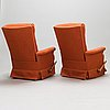 A pair of recliners, latter half oof the 20th century.