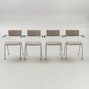A set of four Dutch Gispen armchairs later part of the 20th century.
