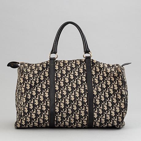 Christian dior, a 'speedy' canvas handbag.