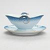 A 47-piece set of porcelain tableware, 'blå ton', bing & gröndahl/ royal copenhagen, denmark.