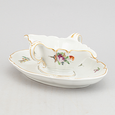 A rococo style dining service, 68 pcs, from nymphenburg, germany.