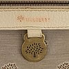 Mulberry, a white and brown leather handbag.