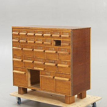 A 1940s archive bureau.