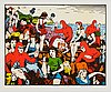 Carl johan de geer, lithograph in colours,s igned 145/290.