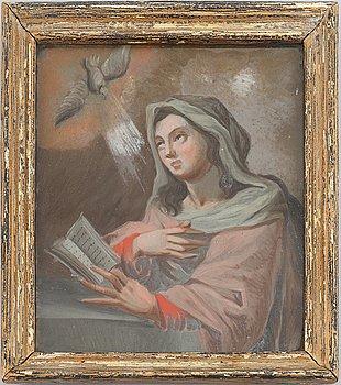 A glas painting around 1800.